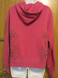 Pull Over Hoodie Sweatshirt Jacket Hot Pink Med w iPod Pocket