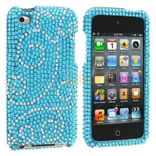 Swirls Rhinestone Bling Case Cover Accessory for iPod Touch 4th Gen