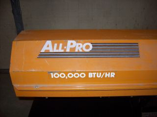 All Pro Portable 100 000 BTU Kerosene Heater