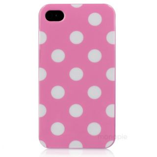 Dots Silicone TPU Skin Cover Case for iPhone 4 4G 4th 4S at T