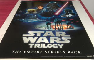 Star Wars Episode 5 Empire Strikes Back DVD Movie Poster 1 Sided