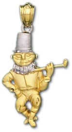 Sterling Silver and Gold Plated Irish Celtic Leprechaun Pendant