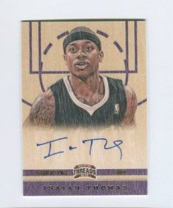 Panini Threads Isaiah Thomas Autograph RC 197 Kings Washington