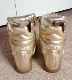 Isabel Marant Bird Sneaker Metallic 37 Dore Gold Bekett Basket 6