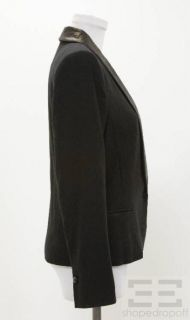 Isabel Marant Black Knit Leather Jacket Size 3