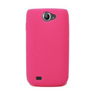 Hot Pink Silicone Rubber Skin Case Cover for Samsung Exhibit II 2 4G