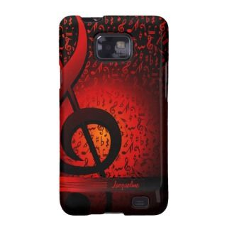 Violin Key Music G Clef Note Samsung Galaxy S2 Galaxy SII Covers by