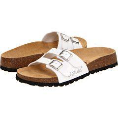 New Womens Betula Birkenstock Ira White Slides Sandals 39 8