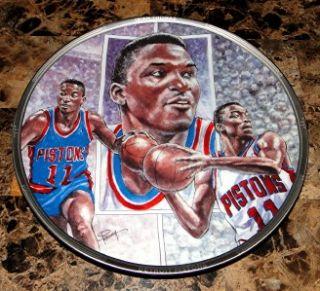 Isiah Thomas Detroit Pistons Basketball Plate