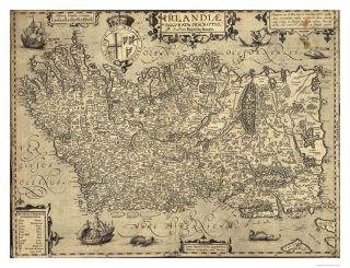 Ancient Ireland Ortelius Map 1606 PF