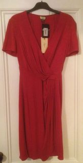 Issa London Womens Red Silk Dress US 10 Stunning Sold Out