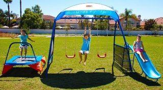 Ironkids Premier100 Fitness Playground Trampoline / Swing Set Outdoor