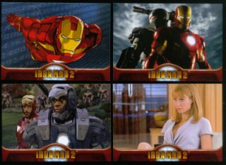 Iron Man 2 Upper Deck 2010 Complete Trading Card Set 75 Robert Downey