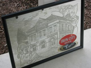 Iron City Beer Sign Mirror New Never Hung Pittsburgh PA