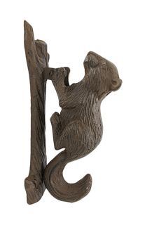 Rustic Cast Iron Squirrel Door Knocker Nature