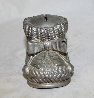 Italian Vintage Silver Plated Bank Money Box Shoe Leonard Silverplate