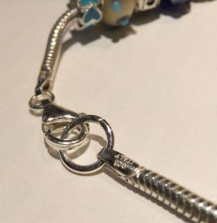 Artisan & Authentic Pandora Beads 925 Sterling Italian Charm Bracelet