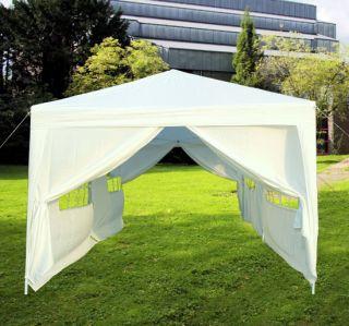 10x20 White Easy Set Pop Up Party Tent Canopy Gazebo