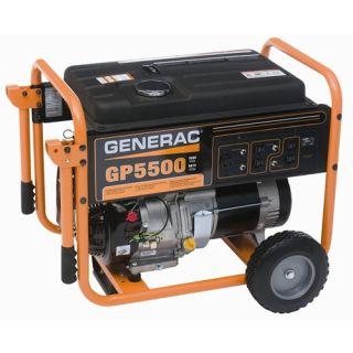 Generac GP5500 6 875W 389cc OHV Portable Gas Generator