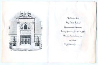 1961 Islip High School Graduation Invitation New York