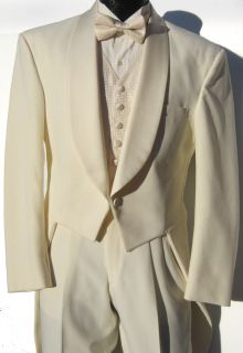 Boys Ivory Off White Lord West Tuxedo Tailcoat Theater Halloween