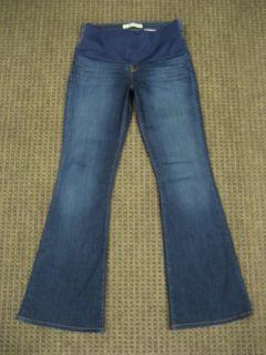 Brand Maternity Jeans Classic Stretch Flare Dark Blue Size 29 Small