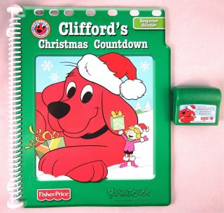 Fisher Price Power Touch Clifford Book Cartridge Christmas Countdown