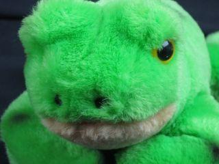 Vintage 1976 Dakin Spotted Bullfrog Floppy Stuffed Animal Toy Frog