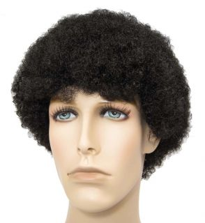 Tight Mini Afro Jerry Jheri Curl Wig Costume Black