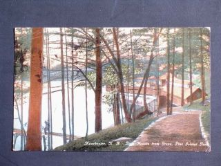 Pine Island Park in Manchester NH Old Vintage Postcard