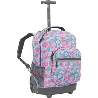 World Sunrise Rolling Backpack Blue Raspberry