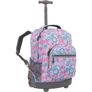 World Sunrise Rolling Backpack Blue Raspberry
