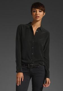 New Equipment Brett Washed Silk Blouse Shirt Black XS s M 0 2 4 6 8 10