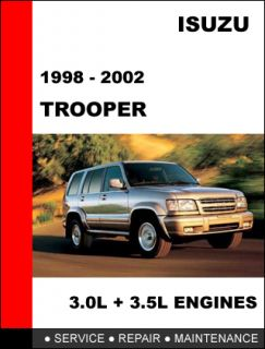 ISUZU TROOPER 1998 2002 OEM FACTORY SERVICE REPAIR MANUAL IN FAST PDF