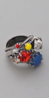 Iosselliani Multi Crystal Cluster Ring