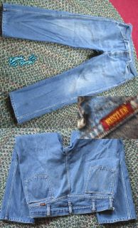 37x29 Vintage 70s Mens Denim Fade Bootcut Jeans USA