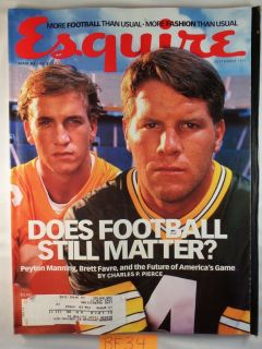 Magazine September 1997 Peyton Manning Brett Favre NFL Football