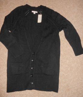American Eagle Pointelle Cardigan Sweater Black $49