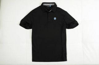 Mens Short Sleeve J.LINDEBERG Golf Polo T shirt Cotton XL Black Asia