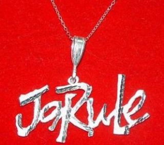 Sterling Silver Ja Rule Pendant Charm Music Thug Life Jewelry