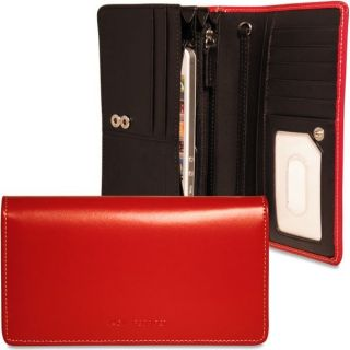 Jack Georges Milano Collection Womens Continental Wallet with iPhone