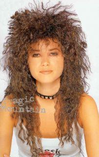 80s Heavy Metal Glam Rock Curly Jon Bon Jovi Wig Brown