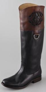 Frye Melissa Logo Flat Boots