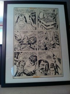 Jack Kirby Original Art OMAC 5 Page 25 Professionally Framed