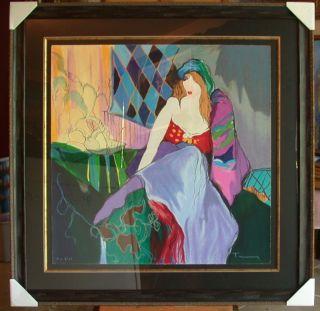Itzhak Tarkay Painters Model Serigraph s N Framed