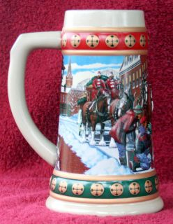 1994 Budweiser Anheuser Busch Holiday Collectors Series Beer Stein Mug