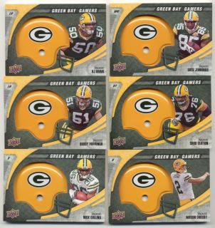 Jennings Jordy Nelson rookie Driver Rodgers Wells A J Hawk SET rc LOT