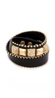 Juicy Couture Skinny Leather Wrap Bracelet