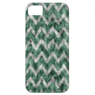 Grunge Chevron Zig Zag Pattern Dirty Grayed Jade iPhone 5 Cover