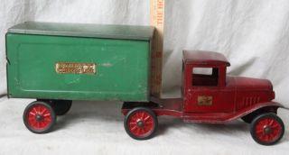 NR RARE 1930S BUDDY L EXPRESS LINE TRAILER HOGE FIRE CHIEF 1930S CAB